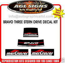 Mercury Bravo THREE Outdrive Decal Kit Mercruiser reproductions Diesel available