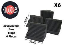 6 Professional Acoustic Foam (300mm) Bass Traps Sound Treatment BT300