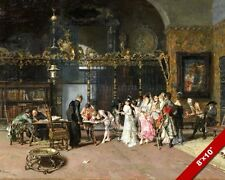 THE SPANISH WEDDING PARTY FRENCH ARTIST FORTUNY PAINTING ART REAL CANVAS PRINT
