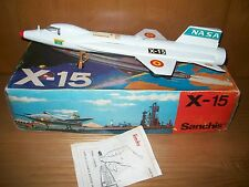 SANCHIS SPAIN.X 15 NASA PLANE. SPACE TOY. FRICTION POWERED AND LAUNCHING MISSILE