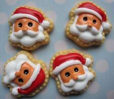 Lot 6 pcs Santa Claus Christmas Resin Flatbacks Scrapbooking Cabochons Crafts