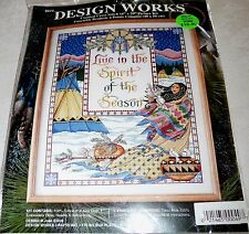 "Design Works Counted Cross Stitch Kit SPIRIT OF THE SEASON 16"" x 20"""