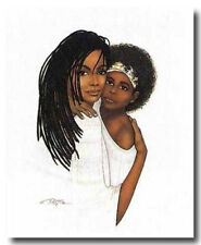 AFRICAN AMERICAN ART & PRINT- Mommy Daughter (16 x 20 New Unframed)