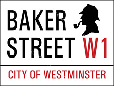 Baker Street W1 Metal Sign, City of Westminster, England, Sherlock Holmes Image