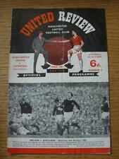 09/10/1965 Manchester United v Liverpool  (Folded, Stained Throughout)