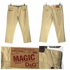 Dolce Gabbana Jeans MAGIC Neiman Marcus Button Fly Khaki Mens 38 Actual 36 x 33