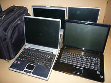 JOB LOT 4 LAPTOPS DELL D800 TOSHIBA T9100 Packard Bell easynote HP 6735s