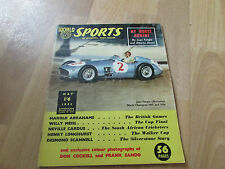 WORLD Sports Magazine Juan FANGIO World Champion Cover May 55 / 1955