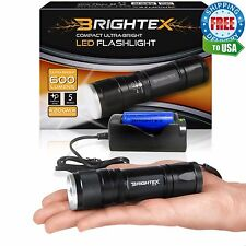 Brightex FL11 Kit: Small Powerful Tactical Flashlight + ZR1 Fast Charger & 18650