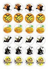 24 HALLOWEEN  WAFER RICE EDIBLE FAIRY/CUPCAKE  CAKE  TOPPERS