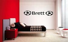 BOYS NAME SOCCER BALL DECAL WALL VINYL DECOR STICKER ROOM SPORTS
