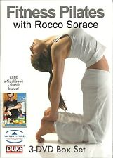 FITNESS PILATES - ROCCO SORACE  3 DVD BOX SET  BODY TONE, INTERMEDIATE, ADVANCED