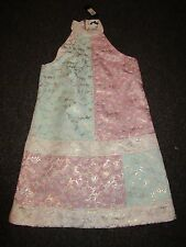 BNWT £70 River Island Dress UK 10 High Neck Oriental Tapestry Floral Metallic