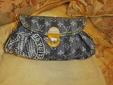 LOUIS VUITTON Handtasche Mini  Pleaty Raye DENIM Shoulder Bag Monogram LV