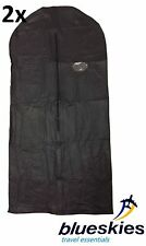 2 x Black Breathable Garment Suit Dress Clothes Cover Travel Bags Lightweight
