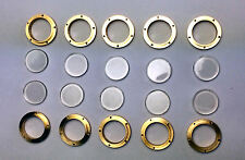 10 x Graupner 12mm Brass Portholes With Glazing