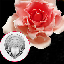 Rose Petal Mold for Cake Decor Fondant Sugarcraft Cutters Tools Mould PR