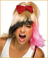 PUNK CANDY WIG multi tone pink hair katy perry halloween costume womens
