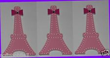 3 Bath & Body Works PINK EIFFEL TOWER Shiny Nail File w Non-Glass Mirror on back