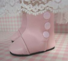 Victorian Pink High Button Boots for American Girl Doll Clothes Monique's Brand
