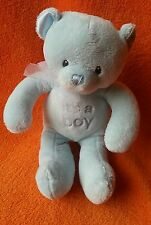 "Gund Its a Boy teddy bear soft toy comforter 7"" 059700 Welcome little one mini"