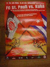 Poster Plakat FC ST Pauli gegen KUBA Din A2 42 x 59 cm Freundschaftsspiel 2008