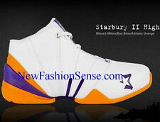 New Authentic Starbury 2 White Blue Orange High Top Basketball Shoes Size 6