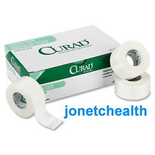"(6) Curad Cloth Silk Surgical Tape First Aid Dressing 2"" x 10 Yds"