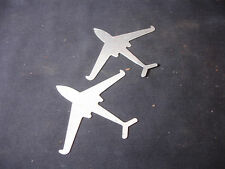 Collectible Metal Airplane Plane Image Mold LOT of 2 Kit Toy