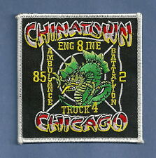 CHICAGO FIRE DEPARTMENT ENGINE 8 TRUCK 4 COMPAN PATCH CHINATOWN
