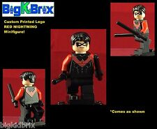 RED NIGHTWING Hero Batman DC Custom Printed LEGO Minifigure NO DECALS USED!