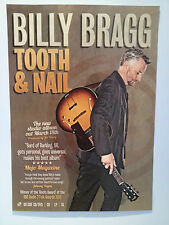 BILLY BRAGG Tooth & Nail Album Promo Poster A2 WILCO Mermaid Avenue BLOKES **NEW