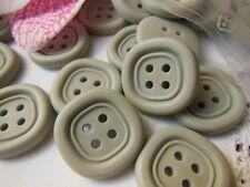 lot 10 boutons GRIS  4 trous  Vintage diamètre: 2 cm BG