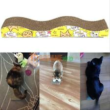 Wave Shape Dual Sides Corrugated Cardboard Cat Scratching Bed Pad Scratcher toy