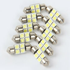 10X 5050 31mm 4SMD Car RV Interior Dome Festoon White LED Light Bulbs Lamp DC12V