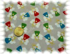Sweet Angels Weihnachtsstoff grau 50 cm Baumwolle Stoff Weihnachten Engel Glitze