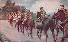 B94199 war English hussars from the front  militaria military soldiers