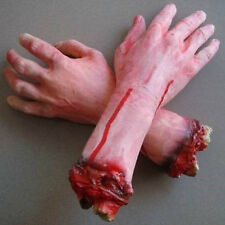 Bloody Fake Body Parts Realistic Severed Arm Hand Walking Dead Halloween Prop#