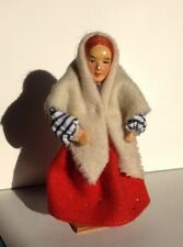 "Vintage Jays Souvenir Doll Beautiful 5"" Irish Lady Redhead In Woollen Costume"