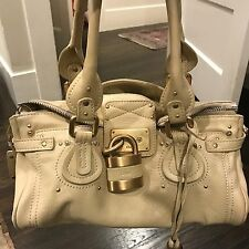 Chloe Paddington Bag In Ivory Cream Sand Lock And Key
