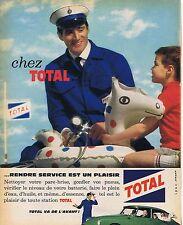 PUBLICITE ADVERTISING 015 1962 TOTAL rendre service est un plaisir