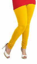 NEW SOFT COTTON STRETCHABLE WOMEN LEGGINGS YOGA PANTS FREE SIZE IN YELLOW COLORS