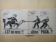 """1950 circa-..IL 27 DEL MESE!! …ULTIMA """"PAGA""""?-VOLANTINO-POLITICA-BAGNARA DI ROMA"""