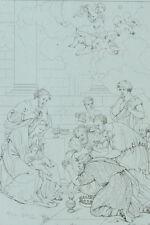Adoration des Mages d'après Nicolas Poussin Gravure 19ème siècle