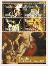 Penrhyn 2015 Easter Postage Stamp Souvenir Sheet Issue
