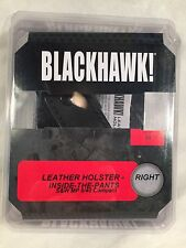 Blackhawk 420419BK-R Leather Inside the Pants Holster S&W MP 9/40 Compact, Right