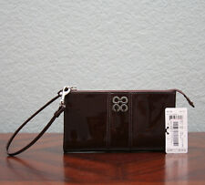 COACH Julia Patent Leather Zippy Wallet 46726 CHOCOLATE BROWN