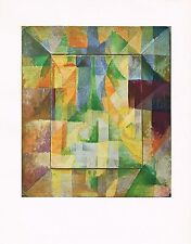 1940's Vintage Robert Delaunay Les Fenetres Abstract Offset Litho Art Print