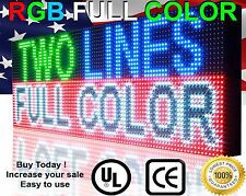 """OUTDOOR FULL COLOR PROGRAMMABLE LED Digital Open Banner VIRTUAL ULTRA HD 13""""x63"""""""