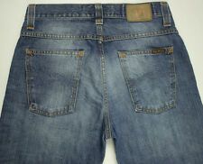 EUC - AS NEW - RRP $279- Mens NUDIE 'AVERAGE JOE ORGANIC INDIGO EMBO' Jeans
